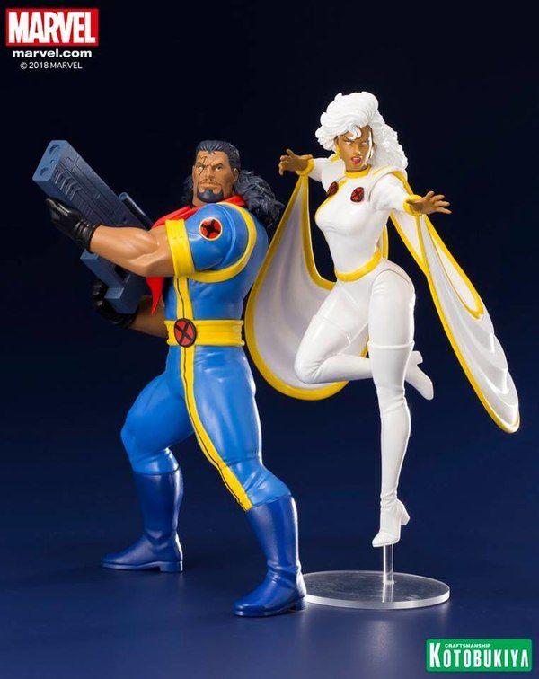 X Men 92 Bishop Storm Two Pack Artfx Statues Marvel Storm Comic X Men Marvel X