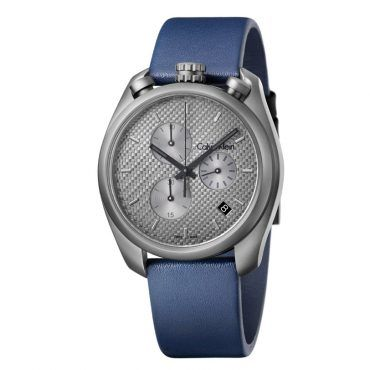 K6Z577V4 Ανδρικό ελβετικό ρολόι CALVIN KLEIN Control με μπλε δερμάτινο λουρί και γκρι καντράν | Ρολόγια CK ΤΣΑΛΔΑΡΗΣ στο Χαλάνδρι #Calvin #Klein #control #γκρι #λουρι #ρολοι