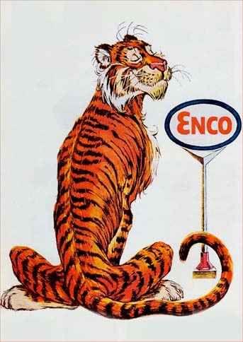 9641 - PETRÓLEO - ENCO 1966 - Tigre de costas - 29x41-