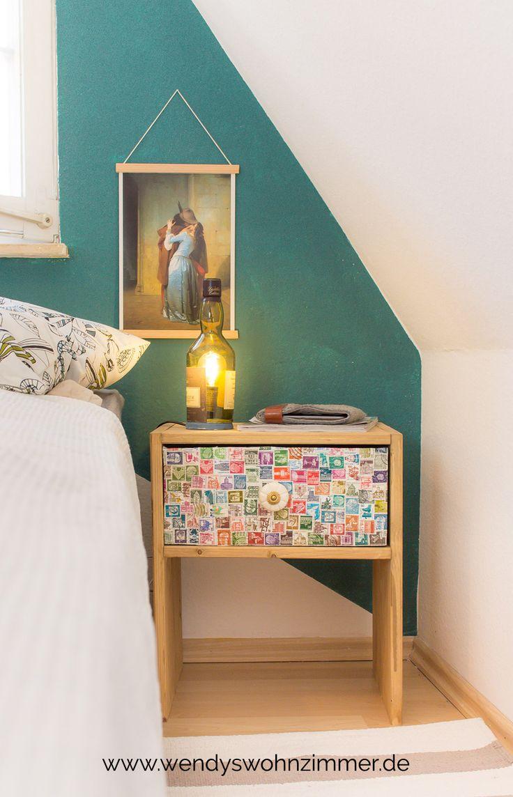 Nachttisch für weniger als 10 EUR selber machen! Wie du dir mit ganz wenig Geld einen Nachttisch mit Schublade selber bauen kannst. DIY Anleitung Deutsch / Möbel selber bauen