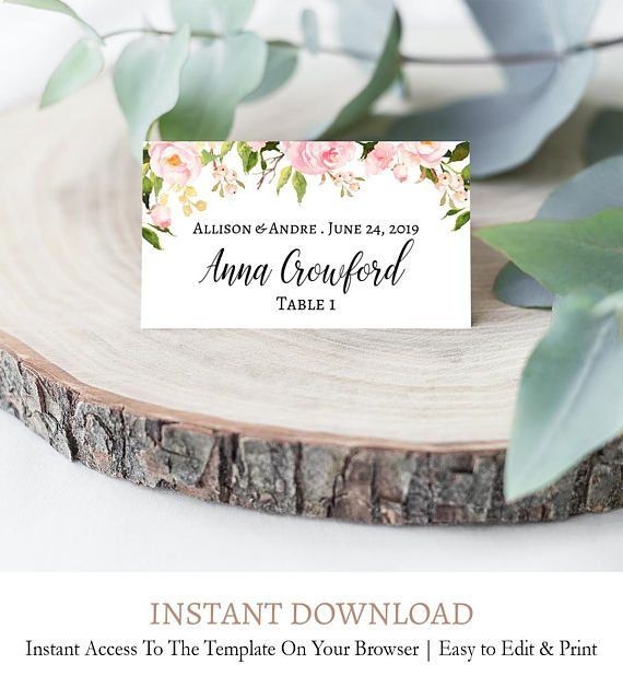 photo relating to Free Printable Wedding Place Cards called Pin upon // Occasion Desk Decor Templates //