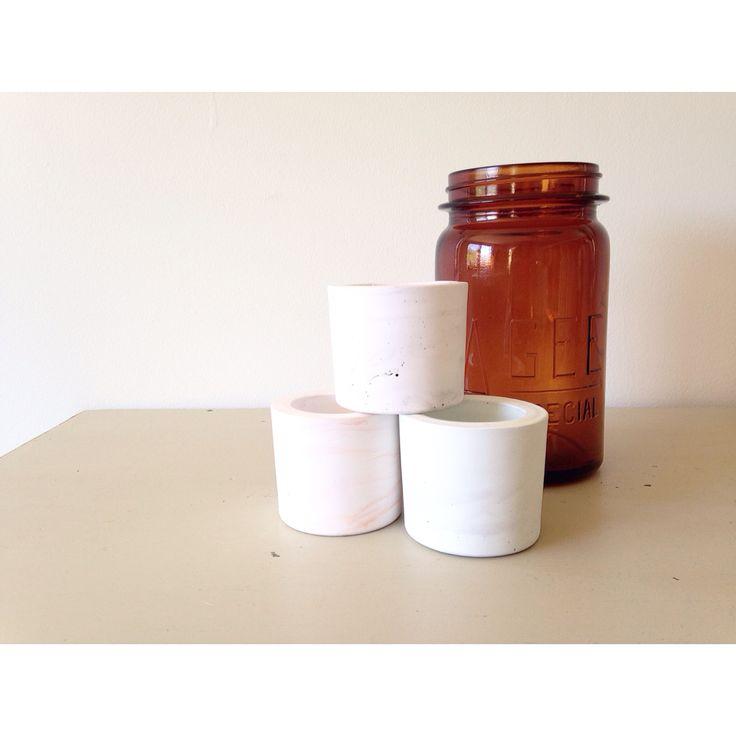 M A R B L E   Love the dreamy soft pastel tones of our @vesselvine pots. SHOP   www.daisychainstore.com.au  Pots • $12.00 Each