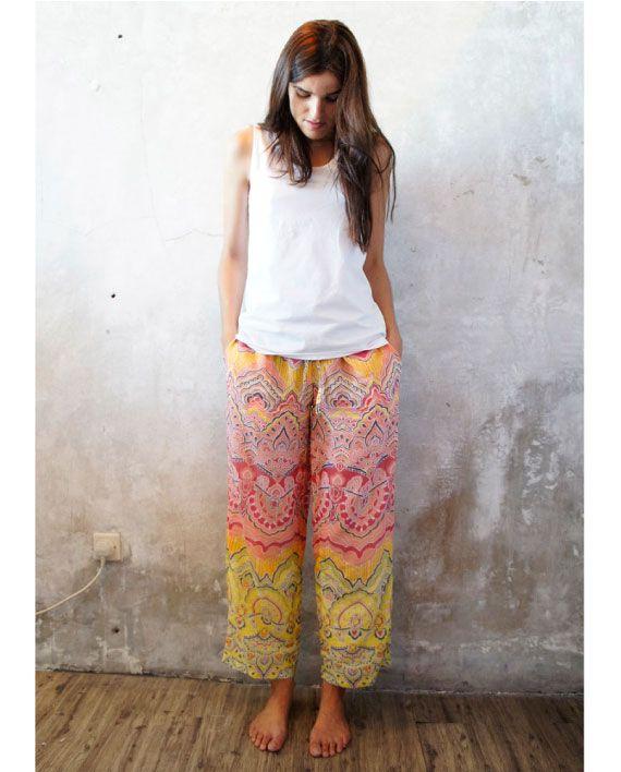 Boho Pajama Pants | Hummingbird Nightwear