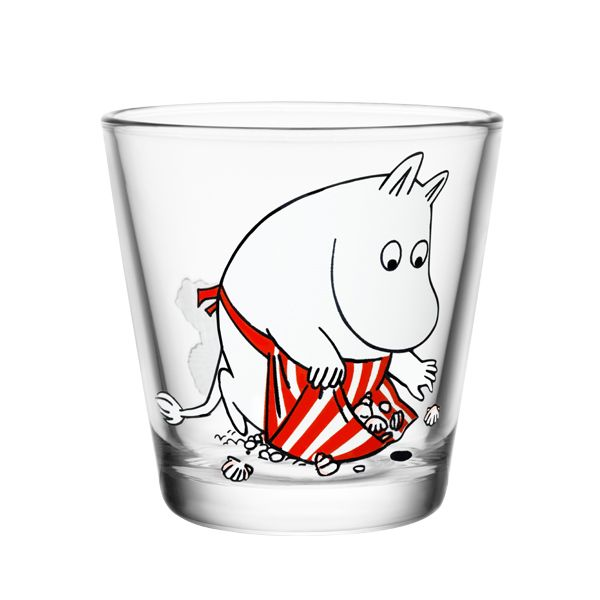 Moomin glass called Moominmamma on the shore.