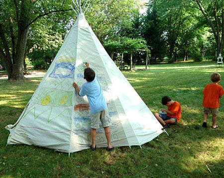 Fun Outdoor Crafts for Kids: Backyard Teepee