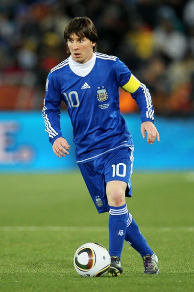 messi in action | Lionel Messi Lionel Messi of Argentina in action during the 2010 FIFA ...