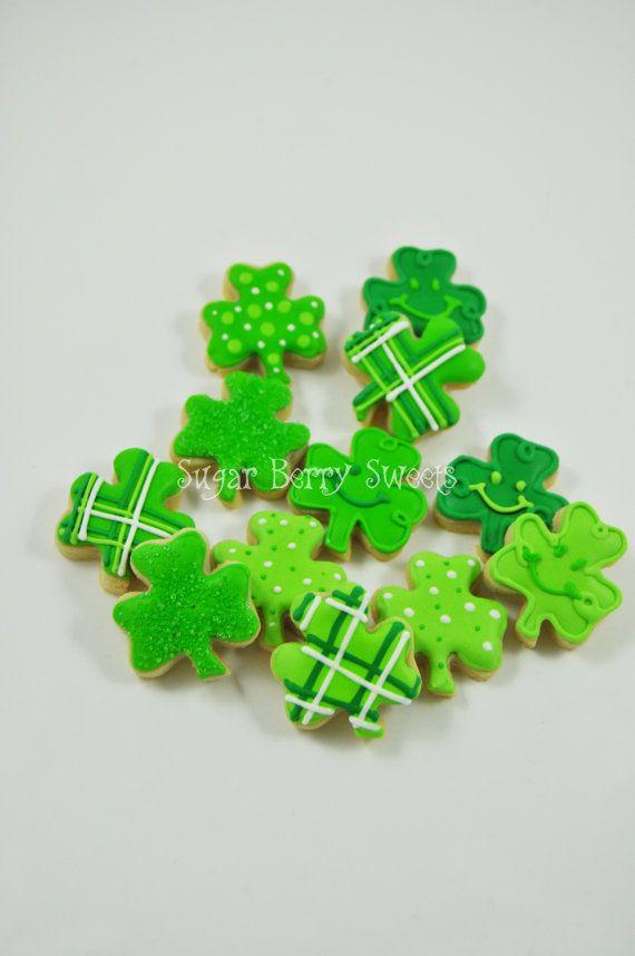 1 Dozen Cute Mini Saint Patrick's Day Sugar par sugarberrysweets
