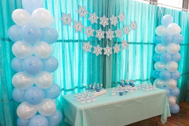 Decoración de fiesta Frozen. #FiestaFrozen