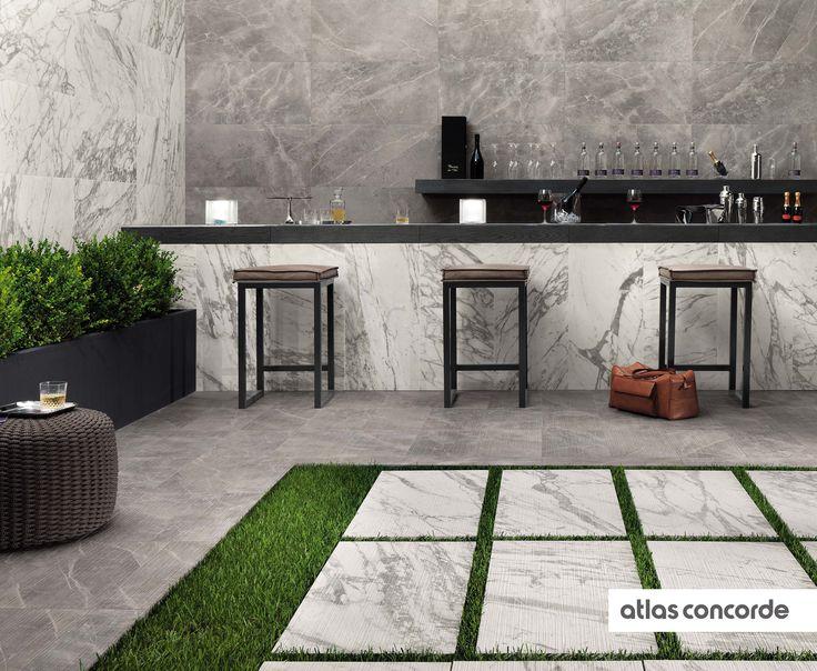 #MARVELPRO statuario select & grey fleury | #AtlasConcorde | #Tiles | #Ceramic | #PorcelainTiles