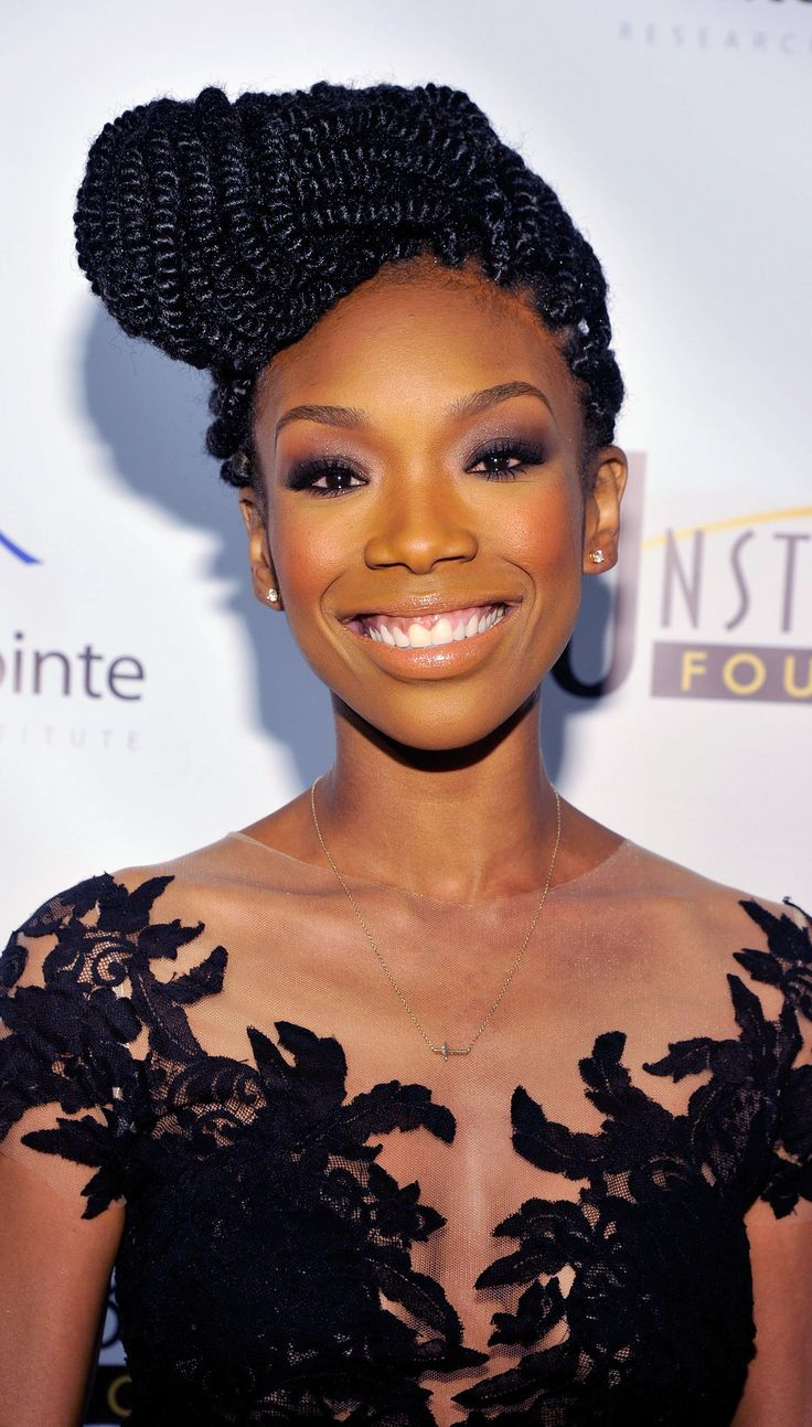 Leave it to #BrandyNorwood to make our jaws drop thanks to her gorgeous, braided updo at the Unstoppable Gala!