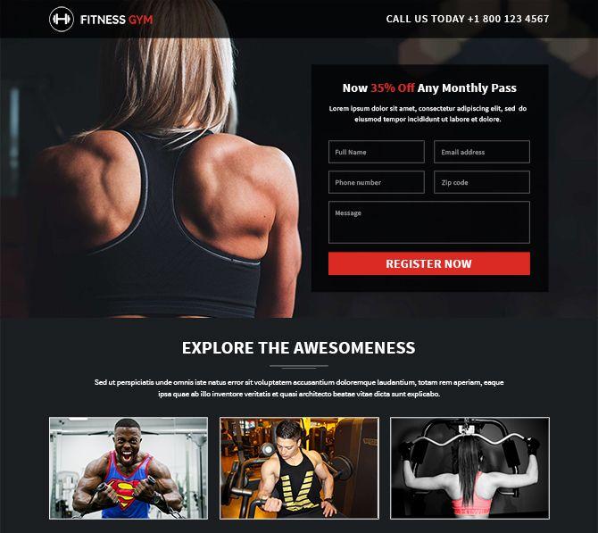 17 best Landing Page Design Examples images on Pinterest Landing - club membership template