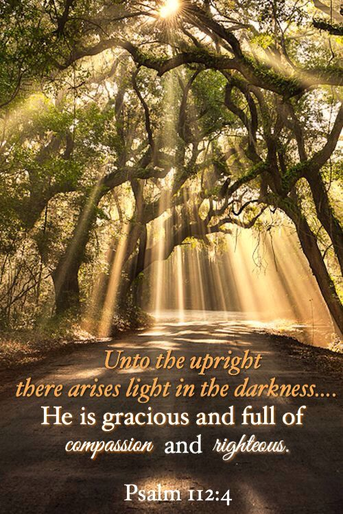 """Psalm 112:4. """"...My light shines most brightly through believers who trust Me in the dark."""" -- from """"Jesus Calling,"""" by Sarah Young"""