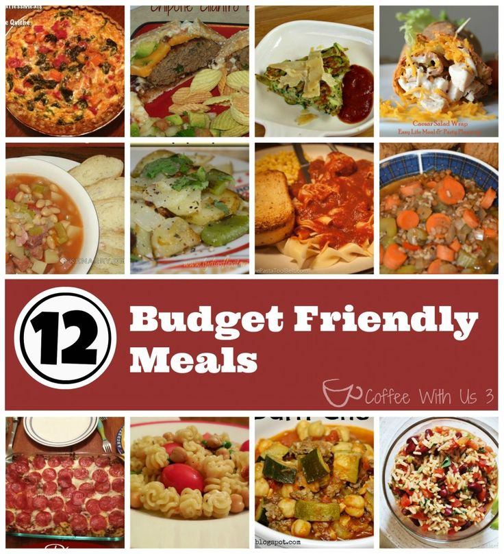 Feeling the tax time blues?  Check out these 12 Budget Friendly Meals!!