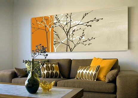 Love the orange and grey combination