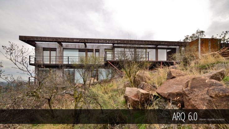 Casa Balmaceda Superficie construida: 140 m2 Proyecto: Casa Unifamiliar Ubicación: Cerro La Pava, Chicureo, Colina, R.M., Chile Fecha: 2014 Sistema Constructivo: Acero y SIP