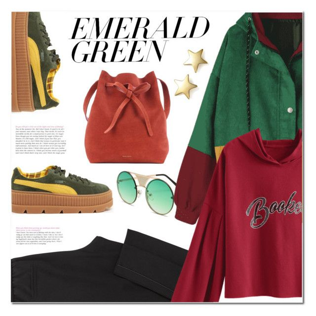 """""""Multicolored Casual Weekend Outfit"""" by ansev ❤ liked on Polyvore featuring Puma, Mansur Gavriel and Bloomingdale's"""