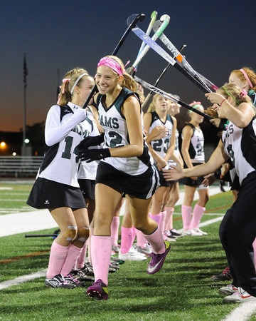 """The Pine-Richland girls field hockey team decided to """"Go Pink"""" this week in honor of Breast Cancer Awareness Month."""