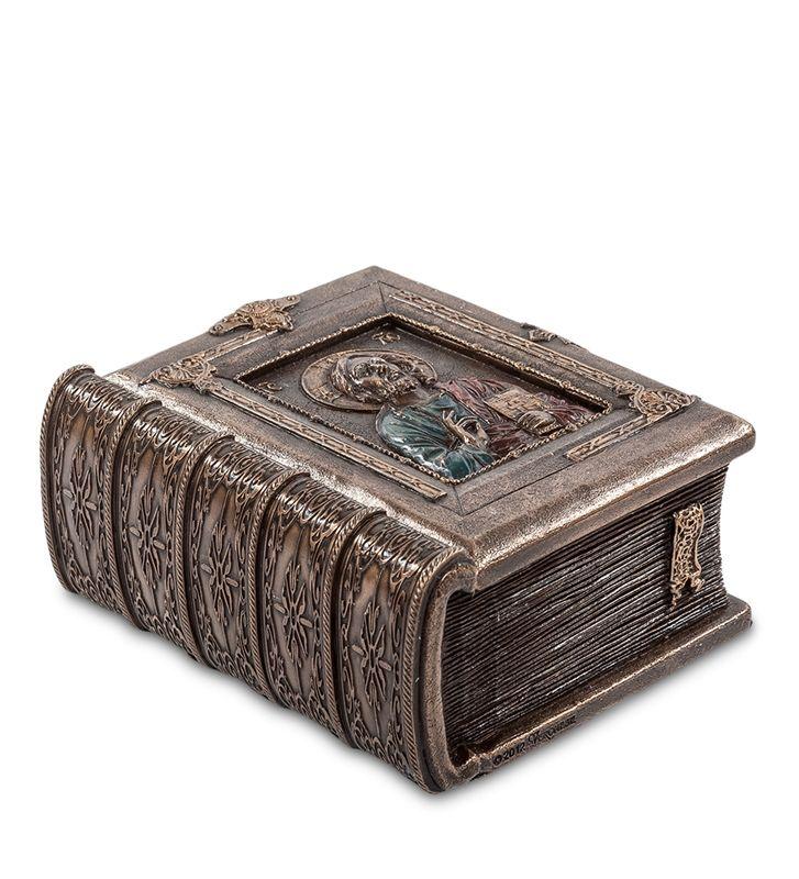 """Шкатулка """"Библия"""" WS-426   Бренд: Veronese (Китай, о. Тайвань);      Страна производства: Китай;   Материал: полистоун;   Длина: 9 см;   Ширина: 5 см;   Высота: 11 см;   Вес: 0,5 кг;"""