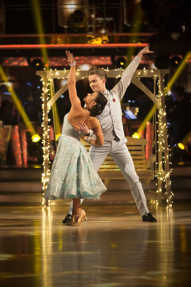 SCD week 8. 2016 .Claudia Fragapane & A J Pritchard. Vienniese Waltz. Credit: BBC / Guy Levy