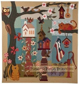 Pumpkin Patch PrimitivesBuggy Barns, Patches Primitives, Parties Block, Applique Quilt, Quilt Barns, Gardens Parties, Pumpkin Patches, Primitives Quilt, Quilt Pattern