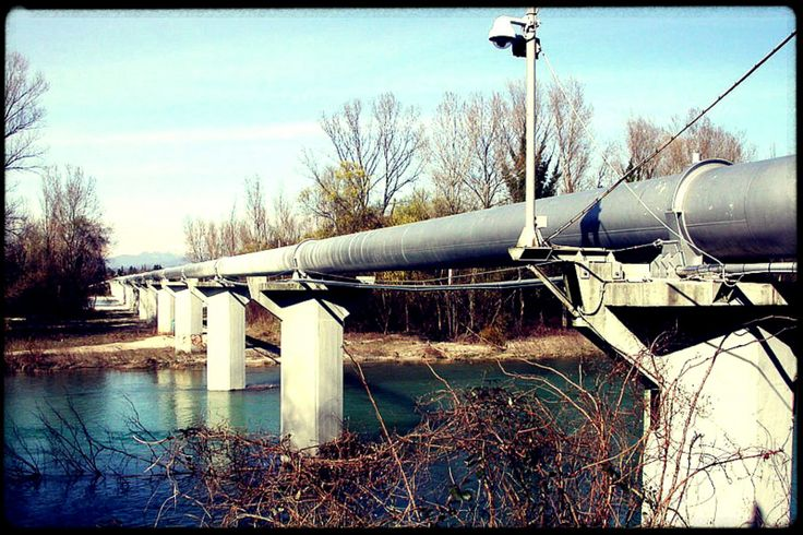 The Transalpine Pipeline (TAL) is a crude oil pipeline which connects Italy, Austria and Germany.  The pipeline was commissioned in 1967.  It begins at the marine terminal in Trieste in northeastern Italy and then passes through Würmlach, Vohburg and Ingolstadt to Neustadt an der Donau and Karlsruhe.  The Transalpine Pipeline is 467 miles long and its capacity is approximately 43 million tons of crude oil per year. In 2012, the throughput of the pipeline was 34.9 million tons of crude oil.