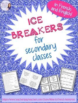 Here are 4 ice breakers that I find useful for the beginning of the year.  All activities are available in French or English for the varying levels of students out there.Activities include:1.  Find someone who - in the same format as all of my Find someone who...