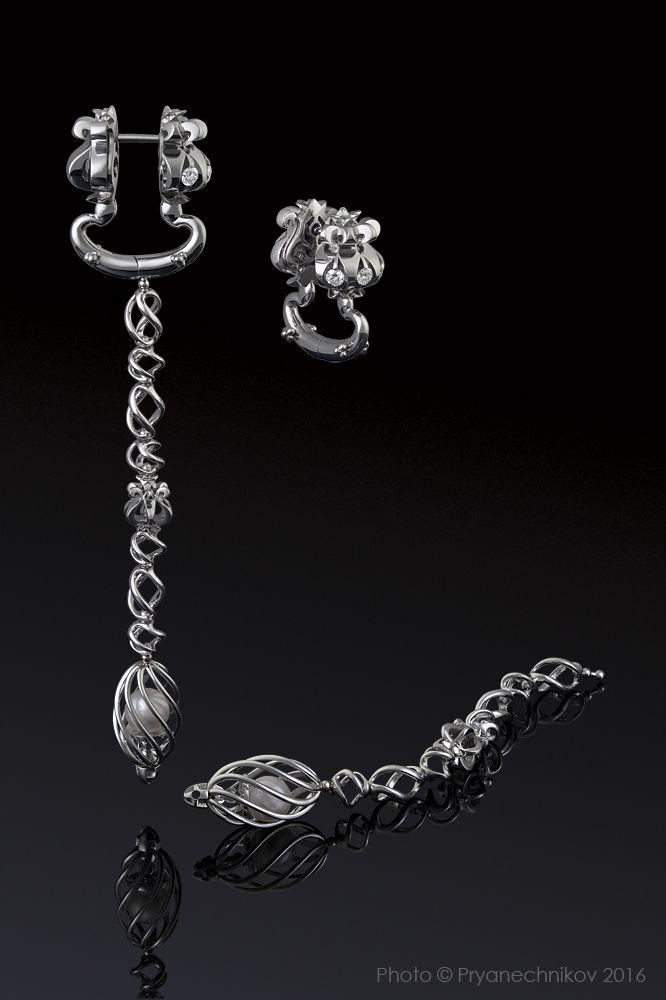 Jewellery Photography. Фото Ювелирных изделий с бриллиантами и жемчугом. Ювелирный постер. Diamond Jewelry.