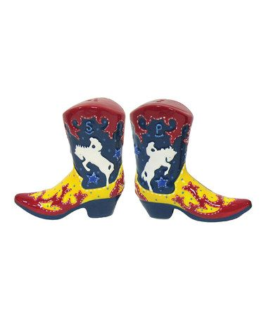 Take a look at this Yellow Boot Salt & Pepper Shakers by Westland Giftware on #zulily today!