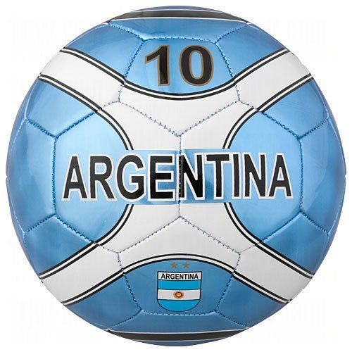 ARGENTINA OFFICIAL SOCCER BALL by Rhinox. $29.99. This terrific official size 5 soccer ball is loaded with Team Argentina logos! Perfect for display or actual play! Designed for all weather conditions! Makes a great bookshelf decoration. Great for the dorm room or den! Arrives fully inflated. Designed with a needle receptacle if re-inflation is ever needed!  Guaranteed Lead and Phthalate Safe. Officially licensed by the league and the team!  Condition: Brand new. ...