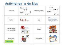 Tekst- en beeldkaartjes thema school (doewoorden) om met anderstalige nieuwkomers en leerlingen Nederlands te oefenen. Speel memory en andere spelletjes.