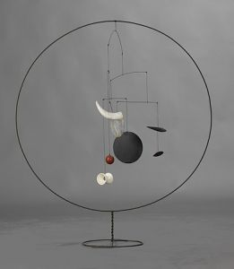 Alexander Calder (American, 1898-1978) The Circle, 1934, Sheet aluminum, ceramic, wood, string and steel wire, Gift of Agnes Rindge Claflin, 1963.8