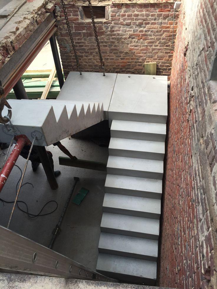 Einde week 9, plaatsen van betontrap