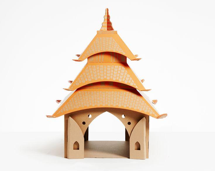 cardboard cat house landmarks