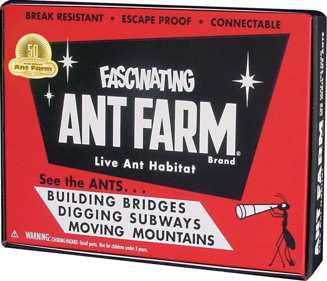 there's really nothing like farming ants. really. vintage toy packaging