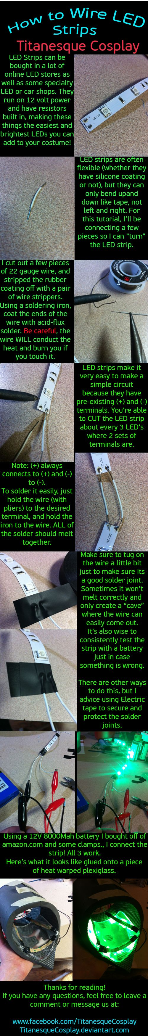 How to wire LED Strips by TitanesqueCosplay.deviantart.com on @deviantART