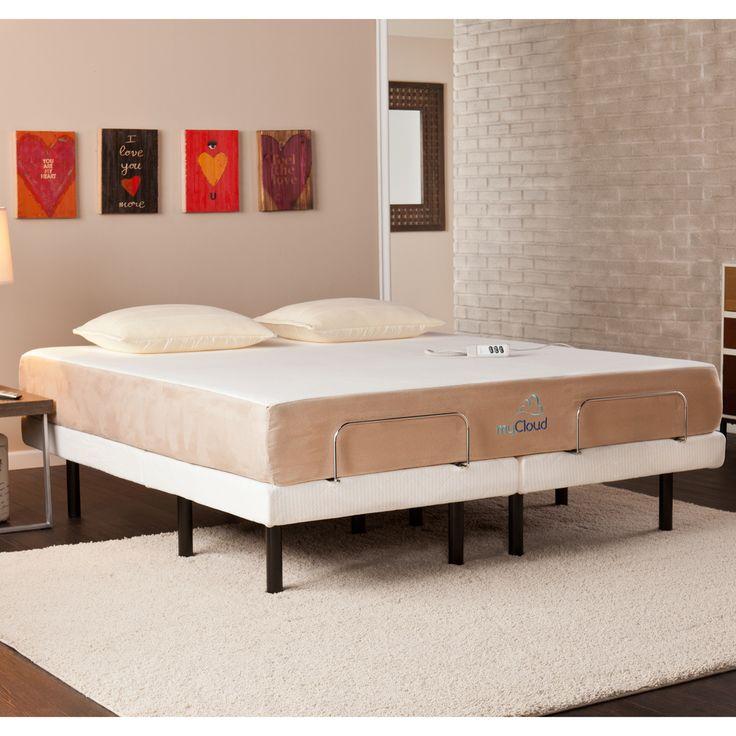 mycloud adjustable bed w mattress california king mattresses