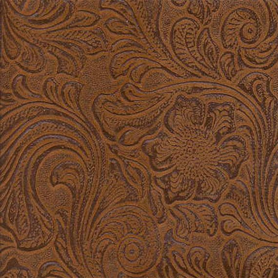Faux Leather Fabric Upholstery Vinyl Nugget Embossed Floral Fabric Per Yard