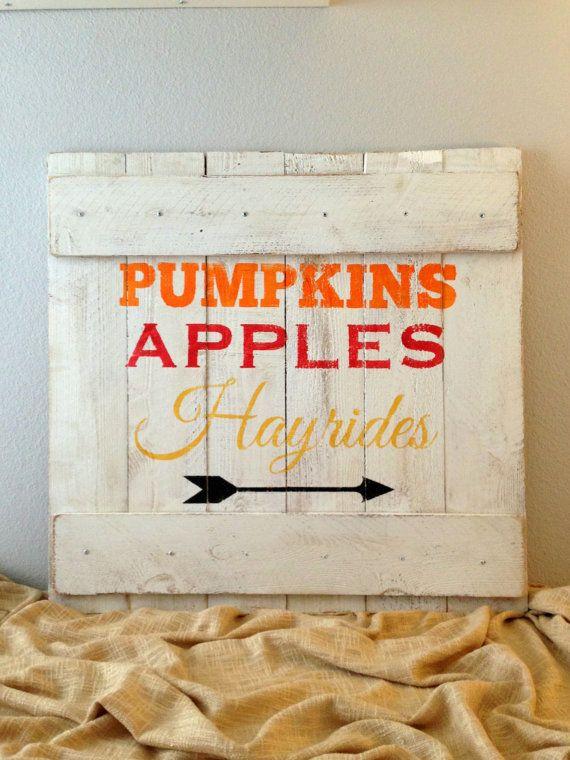 Distressed Wooden Fall / Autumn Rustic Sign - Handmade Seasonal Wall Decor - Rustic Reclaimed Wood