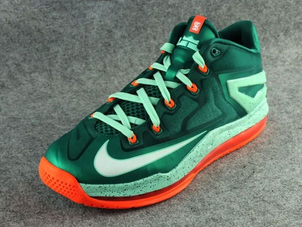 silver and green foamposites lebron 11 low price