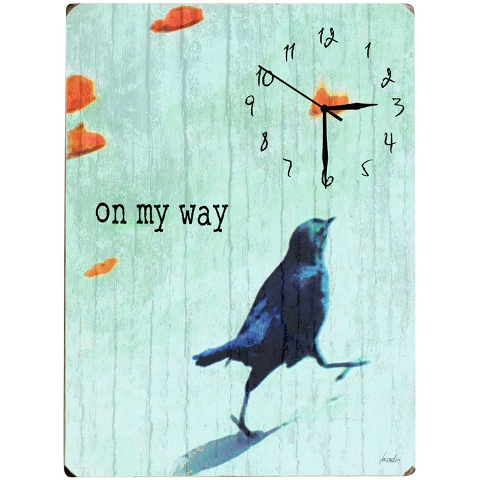 On My Way Wall Clock...perfect for my husband and i lol