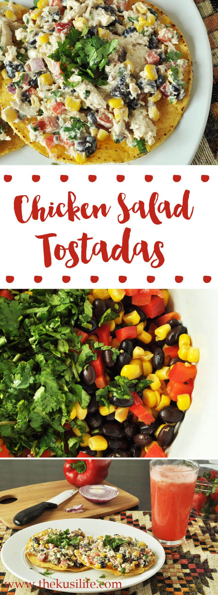 Chicken Salad Tostadas - www.thekusilife.com