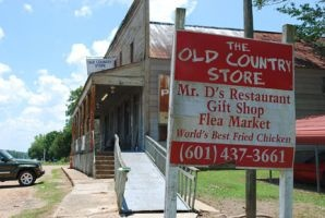 the Old Country Store Restaurant in Lorman, Mississippi. Near milepost 30 on the Natchez Trace Parkway.