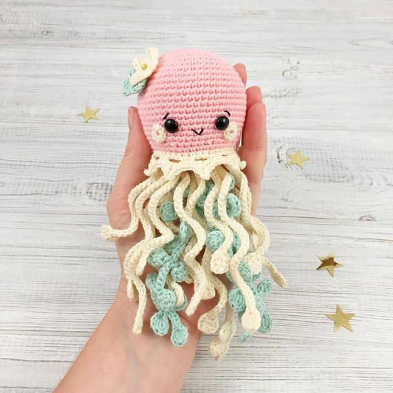 Crochet Pattern Amigurumi Jellyfish pattern sea animal