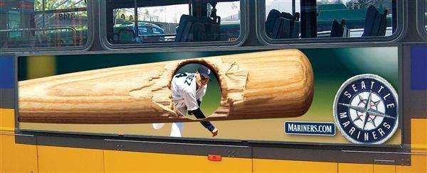 #OOH #Seattle #bus #advertising #baseball
