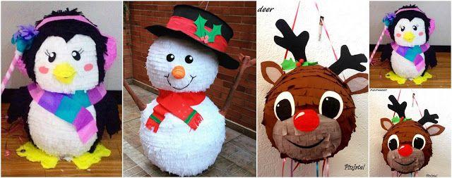 4 Ideas hermosas para hacer piñatas navideñas paso a paso ~ Manoslindas.com