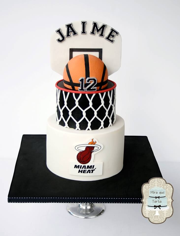 Great, clean basketball cake.