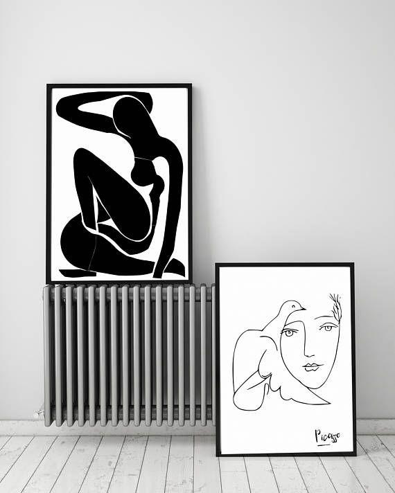 Matisse PRINT Modern Minimalist Female Sketch Drawing Nude