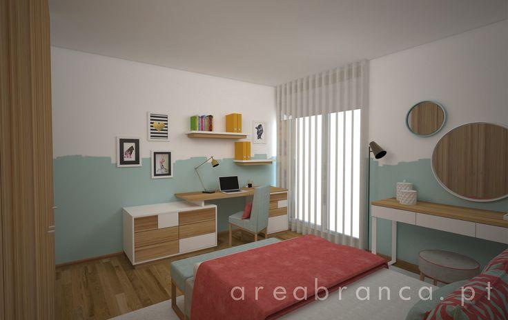 Quarto Rapariga | Bedroom  #Areabranca #DesignInteriores #InteriorDesign  #QuartoRapariga #GirlRoom #Bedroom