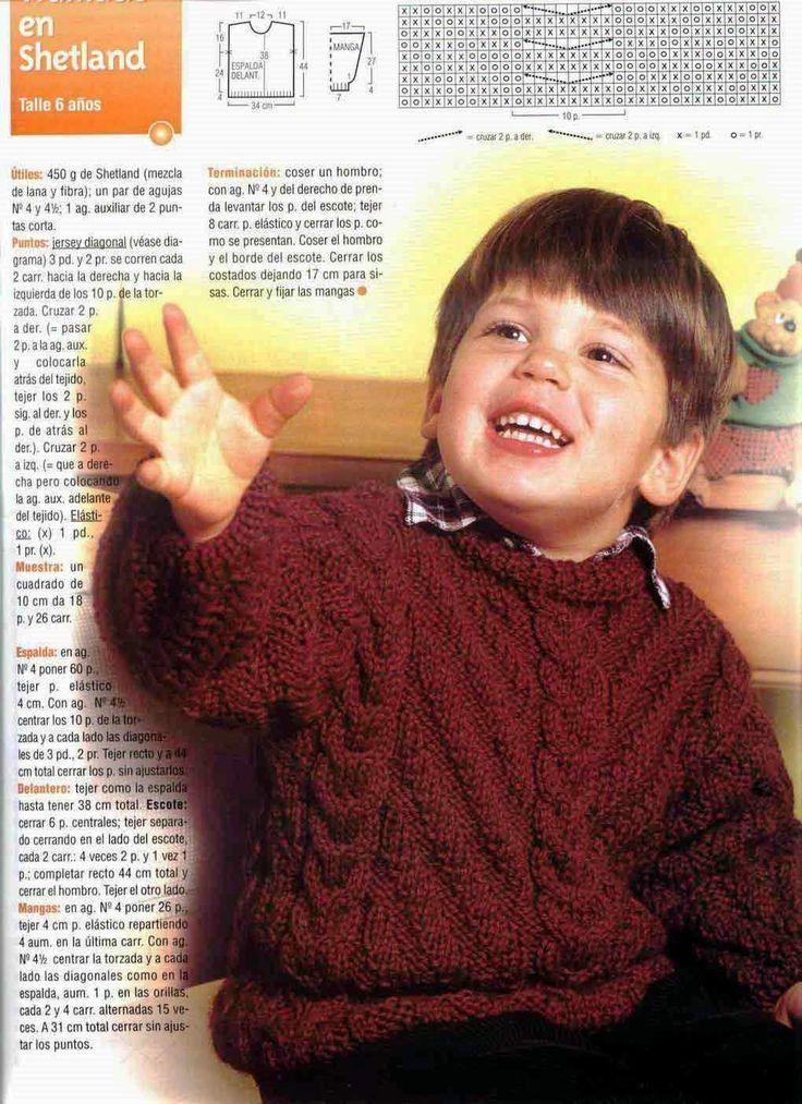 pullover bebe tejido dos agujas - Google Search