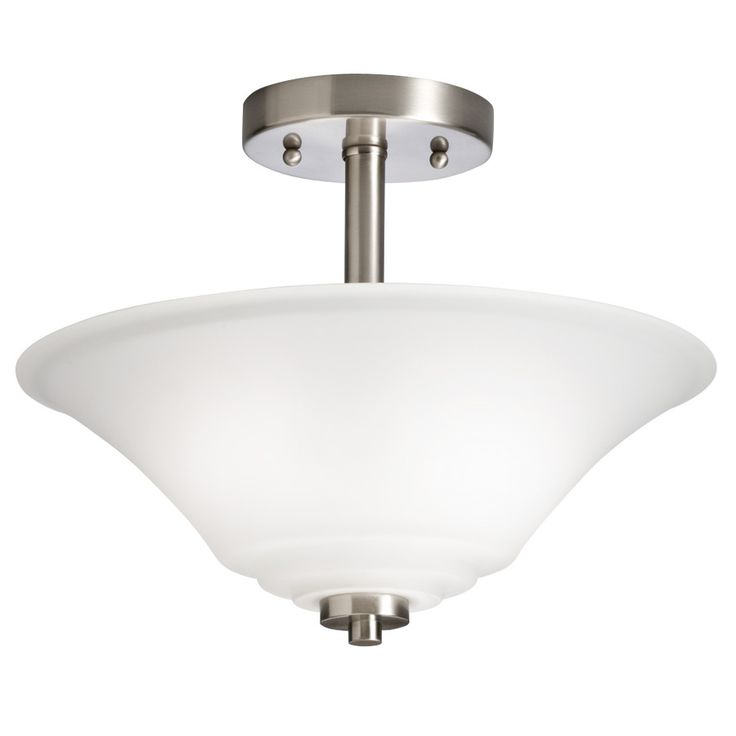 37 best light fittings and fans images on pinterest light shop portfolio lyndsay brushed nickel frosted glass semi flush mount light at lowes canada find our selection of semi flush ceiling lights at the lowest aloadofball Images